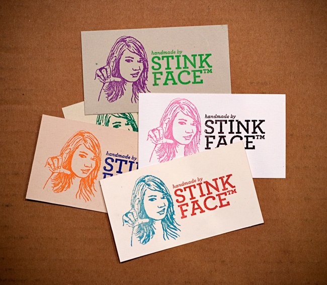 Stinkface business cards